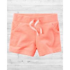 Неоновые шортики персикового цвета Картерс