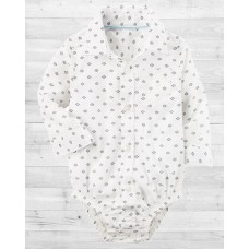 Рубашка-бодик белая с принтом Картерс