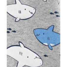 """Песочник ромпер """"Добрые акулы"""" Картерс"""