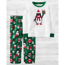 """Флисовая пижамка 2в1 """"Пингвин с подарочком"""" Картерс"""