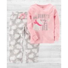 """Пижама с флисовыми штанами """"Кролик"""" Carter'"""