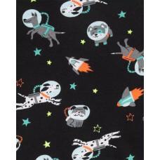 """Комплект коттоновых пижам 4в1 """"Бульдожка-астронавт"""" Картерс"""