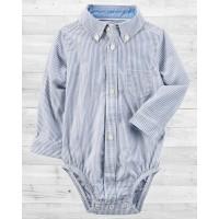 Рубашка-бодик Картерс в мелкую полосочку
