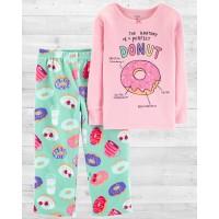 """Пижама с флисовыми штанами """"Пончик"""" Картерс"""