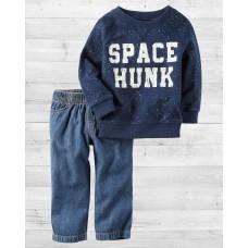 """Комплект 2в1 пуловер и джинсы """"SPACE HUNK"""" Картерс"""