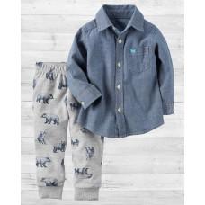 """Комплект 2в1 штаны и джинсовая рубашка """"Мишки"""" Картерс"""