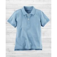 Голубая футболка-поло Картерс