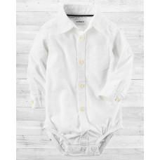 Рубашка-бодик Oxford Картерс белая