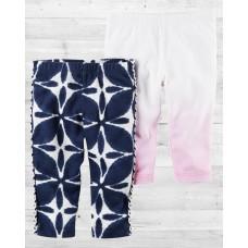 Комплект из 2-х нарядных штанишек для девочки Картерс