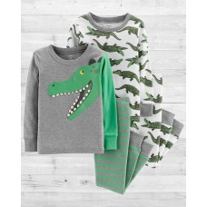 """Комплект коттоновых пижам 4в1 """"Забавный крокодил"""" Картерс"""