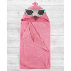 "Полотенце с капюшоном ""Розовый Фламинго"" Картерс"