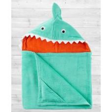 "Полотенце с капюшоном Картерс ""Мятная Акула"""