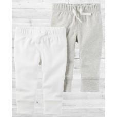 Комплект из 2-х светлых штанишек babysoft Картерс