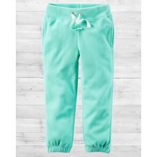 Флисовые штанишки мятного цвета Картерс