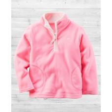 Флисовая нежно-розовая кофта Картерс