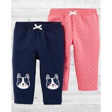 """Стильные штанишки для девочки """"Бульдожки"""" Картерс"""