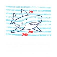"""Летний комплект 2в1 с шортиками """"Полосатая акула"""" Картерс"""