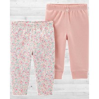 """Комплект из 2-х штанишек для девочки """"Цветочный"""" Картерс"""