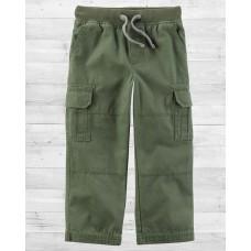 Плотные штаны из коттона зеленого цвета Carter'as