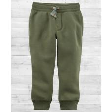 Утеплённые штанишки на флисе хаки Картерс
