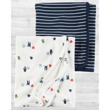 """Комплект 2в1 пеленальных одеял-пеленок """"Монстрики"""" Картерс"""
