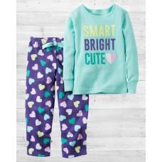 """Пижама с флисовыми штанами """"Яркие сердечки"""" Carter'"""