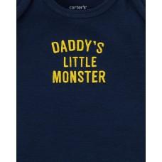 """Коттоновый комплект 3в1 Картерс babysoft """"Daddy's Little Monster"""""""