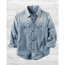 Джинсовая рубашка Сarter's из ткани шамбре