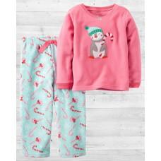"""Флисовая пижамка 2в1 """"Пингвин с карамелькой"""" Картерс"""