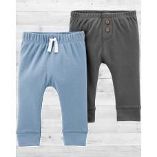 Комплект из 2-х однотонных штанишек для малыша Картерс