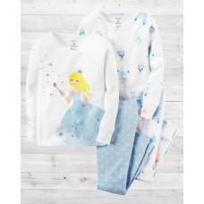 """Комплект коттоновых пижамок 4в1 """"Маленькая фея"""" Картерс"""