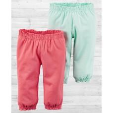 Комплект из 2-х ярких штанишек для девочки Картерс