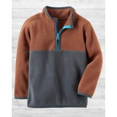 Флисовая серо-коричневая кофта Картерс