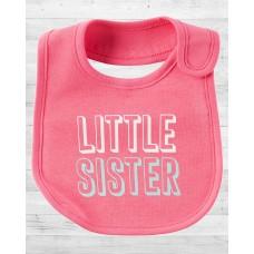 "Слюнявчик Картерс ""Little Sister"""