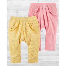 Комплект из 2-х стильных штанишек для девочки Картерс