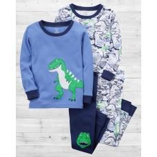 """Комплект коттоновых пижам 4в1 """"Весёлые динозаврики"""" Картерс"""