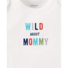 """Коттоновый комплект 3в1 Картерс babysoft """"Wild about Mommy"""""""