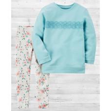 """Комплект 2в1 пуловер и леггинсы Картерс """"Цветочное настроение"""""""