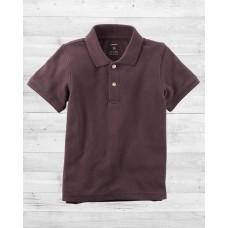 Коричневая футболка-поло Картерс