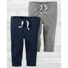 Комплект из 2-х серых и темно-синих штанишек babysoft Картерс