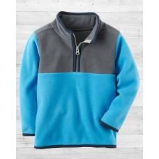 Флисовая серо-голубая кофта Картерс