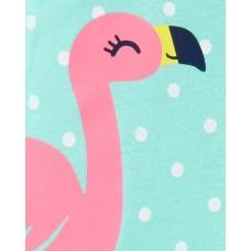 """Коттоновый человечек слип """"Розовый фламинго"""" Картерс"""