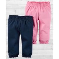 Комплект из 2-х розово-синих штанишек для девочки Картерс