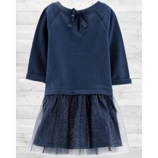 Нарядное темно-синее платье Картерс