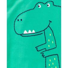 """Коттоновый человечек слип """"Зелёный динозаврик"""" Картерс"""