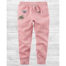Стильные джоггеры розового цвета Картерс