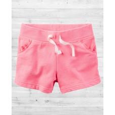 Неоновые шортики розового цвета Картерс