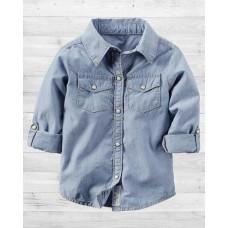 Джинсовая рубашка Картерс для девочки