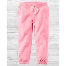 Флисовые штанишки нежно-розового цвета Картерс