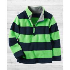 Флисовая сине-зеленая кофта Картерс